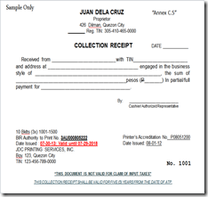 Amazing Collection Receipt ... And Collection Receipt Template