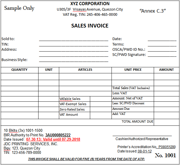 Bir Sample Receipts Gva Co Cpas