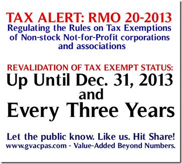 TaxAlert RMO 20-2013